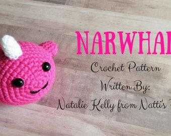 Narwhal Crochet Pattern Digital Download PDF