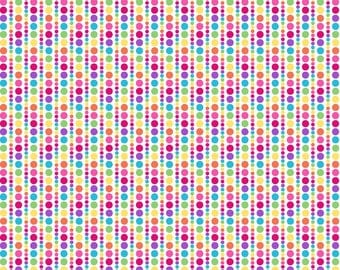 Bloom Multi Spots in Stripes Fat Quarter Cotton Fabric (UK)