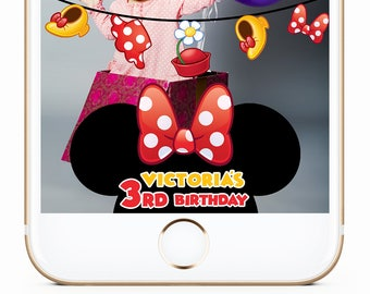 Minnie Mouse Inspired Snapchat Filter, Minnie Mouse Party, Minnie Mouse Inspired Geofilter, Minnie Mouse Birthday, Mickey Mouse Geofilter