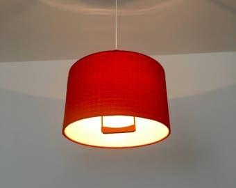 Beautiful mid-century modern Danish teakwood pendant lamp | 1950 's |