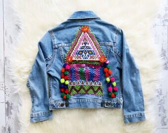 Kids Embellished Levis Denim Jacket