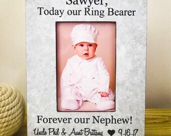 Personalized Ring Bearer Frame Ring Bearer Gift Thank You Gift for Ring Bearer