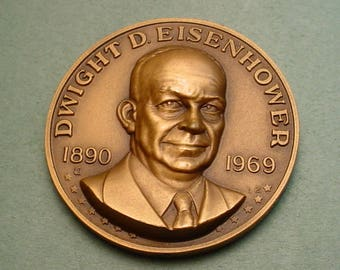 Dwight Eisenhower Medal  in High Relief 40 MM Mint Condition <># ET6021