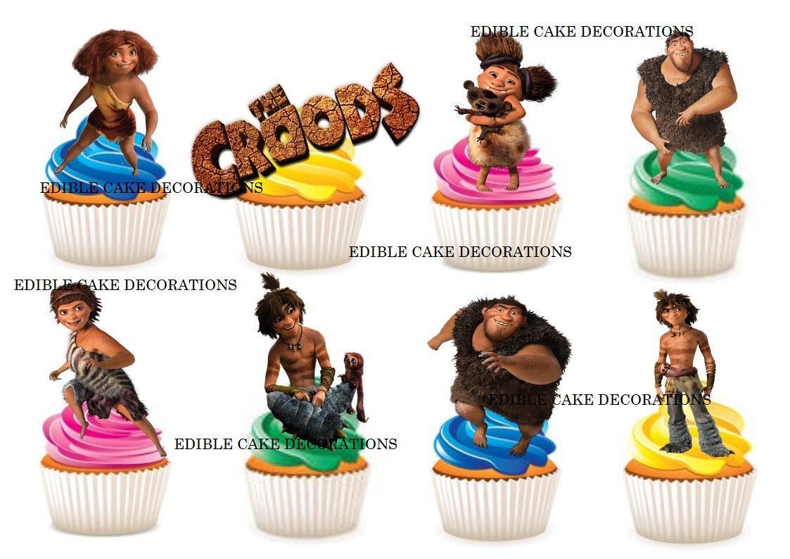 33 X The Croods Movie Edible Rice Fairy Paper Cupcake Cake