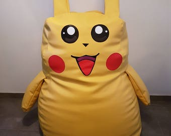 Large Pokemon Pikachu  bean bag chair  handcrafted, waterproof chair