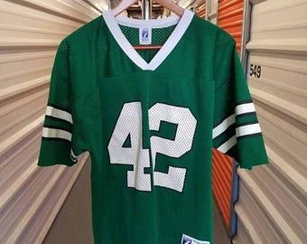 ... Fall Sale 10% Off RARE Vintage 80s New York Jets Ronnie LottFireman Ed  NFC Playoffs 65d4a7a7b