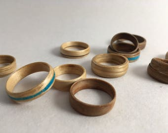 Wood Veneer Rings: Inlay