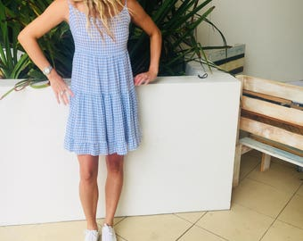 Vintage checkered dress size small