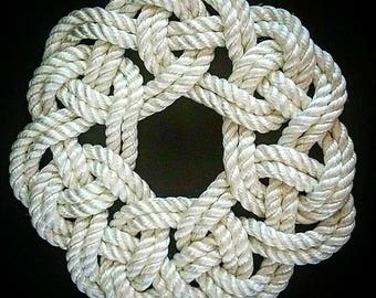 Celtic Kringle Mat, wall hanging, nautical knot work