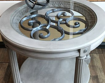 SOLD - Custom painted end table