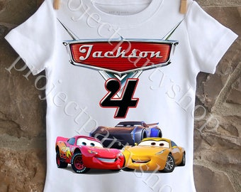 Cars 3 Birthday Shirt