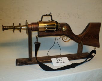 Steampunk rifle, Steampunk Gun, Ray Gun, Steampunk Weapon