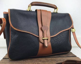 Dooney & Bourke Vintage AWL Messenger Briefcase Bag with Leather Carrying Handle
