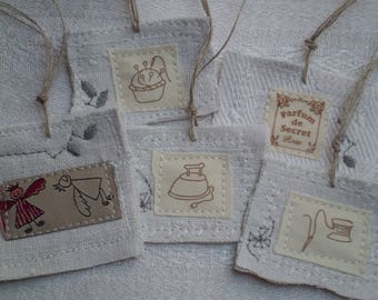 5Tags, gift tags, linen