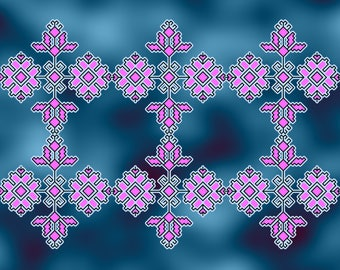 Embroidery pattern traditional from Bulgaria