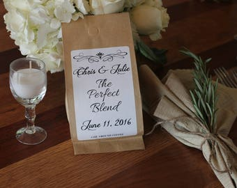 Wedding Coffee Favors - The Perfect Blend