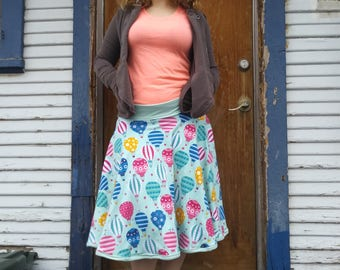 Hot air balloon circle skirt