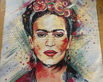 Coupon reproduction F.Kahlo jacquard tapestry