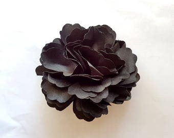 2 Black Rose Flower Baby Girl Hair Clips Brooches 1 Pair