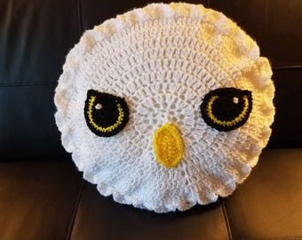 Harry Potter Hedwig Pillow - Crochet/Knit