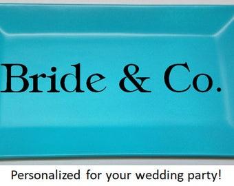 Monogrammed Jewelry Dish - Personalized Jewelry Dish - Tiffany Inspired Jewelry Dish - Bridesmaids Gifts - Monogrammed - Trinket Dish