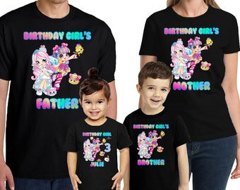 Shopkins Birthday Shirt Customized Name and Age Personalized Shopkins Birthday shirt