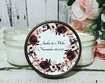 Personalized Wedding Candle Favor - Wedding Candle Favors - Personalized Wedding Favor Candles - Personalized Favors - Soy Candle Set of 12