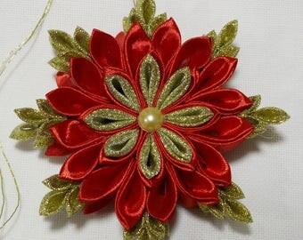 Christmas decorations for hanging, fir tree, deco, Snowflake, Kansashi, handmade