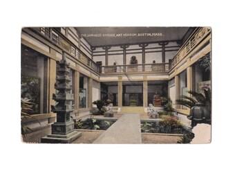 MASSACHUSETTS: The Japanese Garden, Art Museum, Boston - Vintage Divided Back Postcard, Postmarked 1913