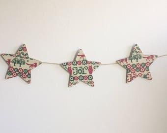 Christmas star bunting Emma Bridgewater joy