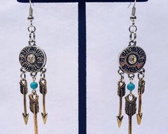 Shotgun Shell Earrings, with Arrows