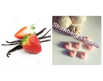 strawberry | vanilla | wax melts | highly scented | scented candle | wax tarts | fruit scent | sweet scent | soy wax