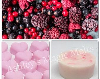 Mixed berries wax melts, fruity wax melts, scented wax melts, soy wax melts, strong wax melts, cheap wax melts, wax cubes, wax tart melts