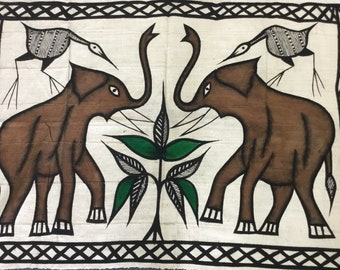 African batik :the elephants