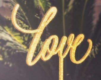 Love Cake Topper, Love Wedding Cake Topper, Engagement Cake Topper, Bridal Shower Cake Topper, Calligraphy Cake Topper 56