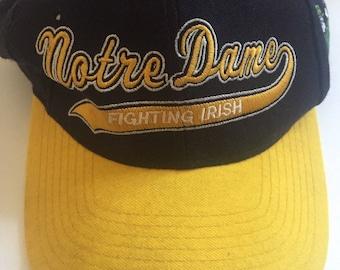 Notre Dame Fighting Irish 90s Starter SnapBack Hat Cap NCAA Football Vintage