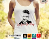 Justin Timberlake Its Gonna Be May T-shirt, mug, cushion, design htv design,  svg, png, pdf,Ai Eps for silhouettte cricut ScanNcut
