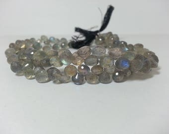 Natural Labradorite Faceted Onion Bead, Labradorite Onions, Labradorite Beads, Labradorite Briolettes, Briolette Beads, Labradorite Teardrop