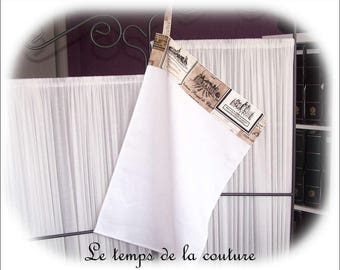 Hand towel - Dishcloth - shades of white, taupe and black - handmade.