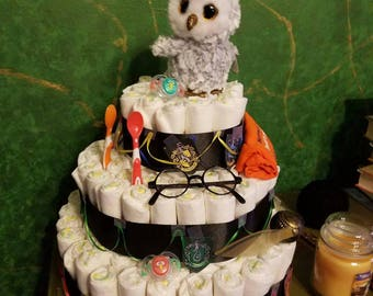 Harry Potter diaper cake.