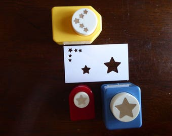 Star Paper Punches - Set of 3 designs (Used)