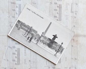 Unwritten postcard, Paris, 1910, Place de la Concorde