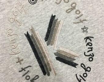 Rare Vintage 90's KENZO Sweatshirt Embroidery Logo Pullover Jumper