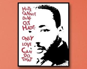 Martin Luther King Jr Art Print, Martin Luther King Jr I Have A Dream, Martin Luther King Jr, Inspiration Wall Art, Inspire Wall Art, MLK Jr