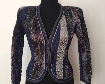 Vintage Jeanne Marc Collection Teal Jacket