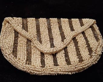 Vintage Bead And Glass Purse