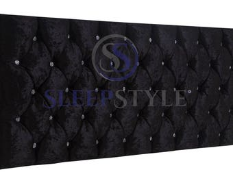4FT6 Double Glamour Upholstered Headboard - Choose Any Fabric, Also Available In Various Heights