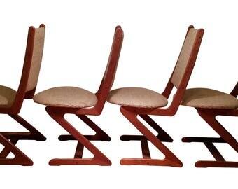 Mid Century Modern Teak Davis & Chine Z Chairs