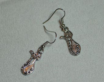Adorable kitty cat earrings for crazy cat people, Clip on or pierced