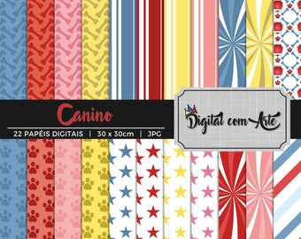 50% OFF - Dog Digital Paper